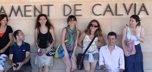 """Gli stagisti del corso """"Management del turismo sostenibile"""" a Calviá"""