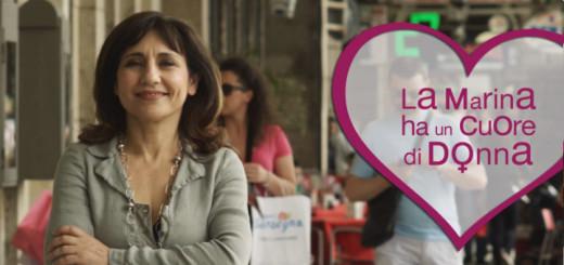 """Fotogramma dallo spot """"La Marina ha un cuore di donna"""" di Peter Marcias"""
