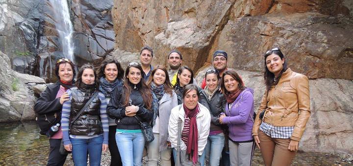 Cascata di Sa Spendula (Villacidro): i corsisti in visita guidata
