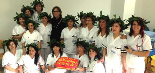 """La classe delle """"Super OSS"""" di Lanusei con la dott.ssa Marcella Caboi, docente del corso"""