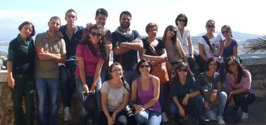 I corsisti - accompagnati dai docenti Efisio Carbone ed Emanuela Manca - durante la visita guidata alla Cittadella dei Musei
