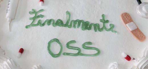 Nuoro, dopo l'esame: un dettaglio della torta a tema